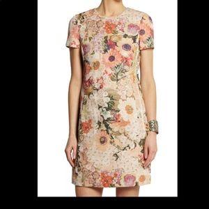 Tory Burch kaley floral tweed dress 10